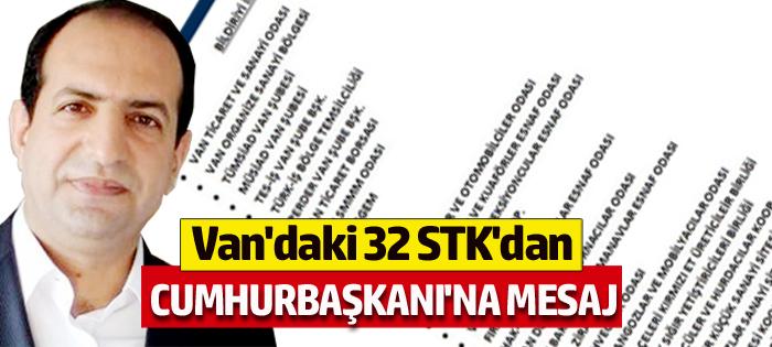 Van'daki 32 STK'dan Cumhurbaşkanı'na Fatih Çiftçi mesajı