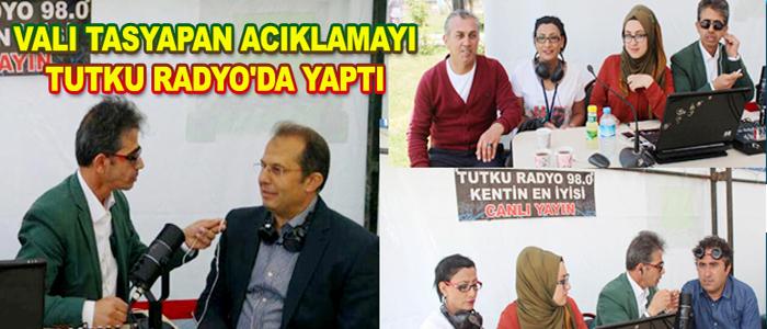 VAN VALİSİ TUTKU RADYO'NUN KONUĞU OLDU